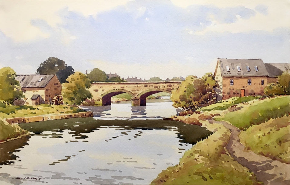 Irish Art - River Bush, Bushmills, Co.Antrim, Northern Ireland by Irish Artist Sam McLarnon.