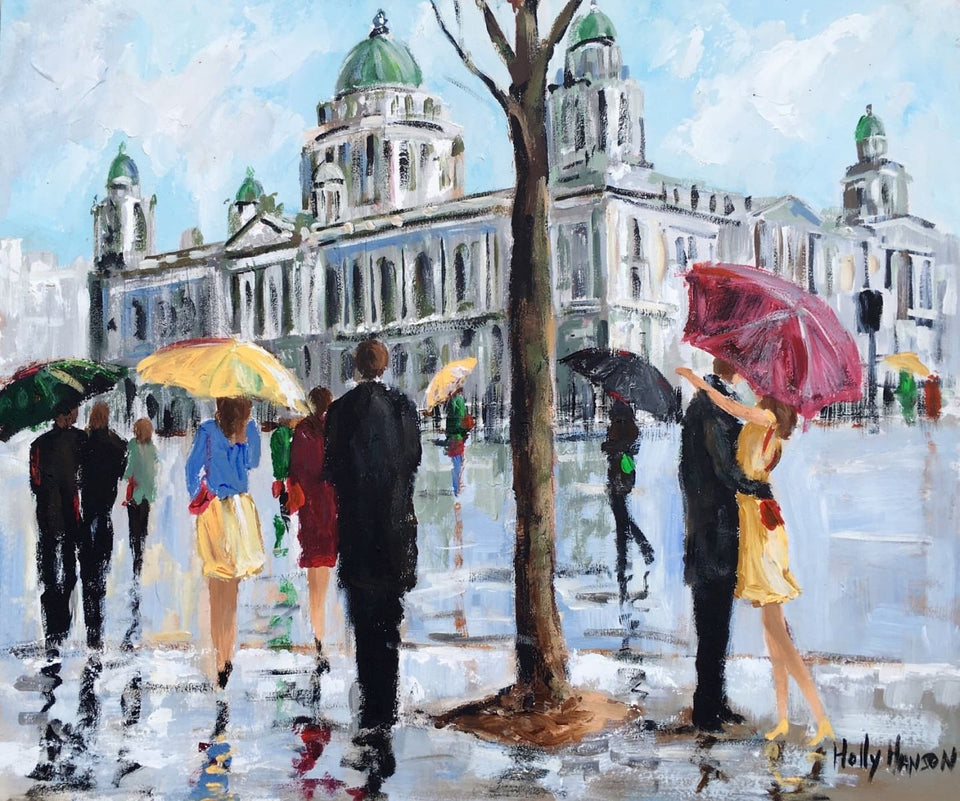 Romantic Moment City Hall Donegall Square Belfast Original Artwork