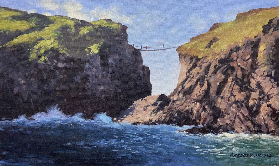 Rope Bridge Carrick-A-Rede Co.antrim Original Artwork