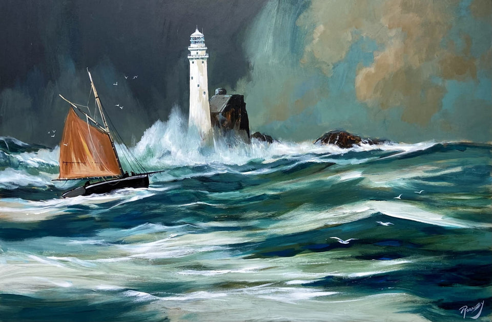 Rounding Fastnet Rock Original Artwork