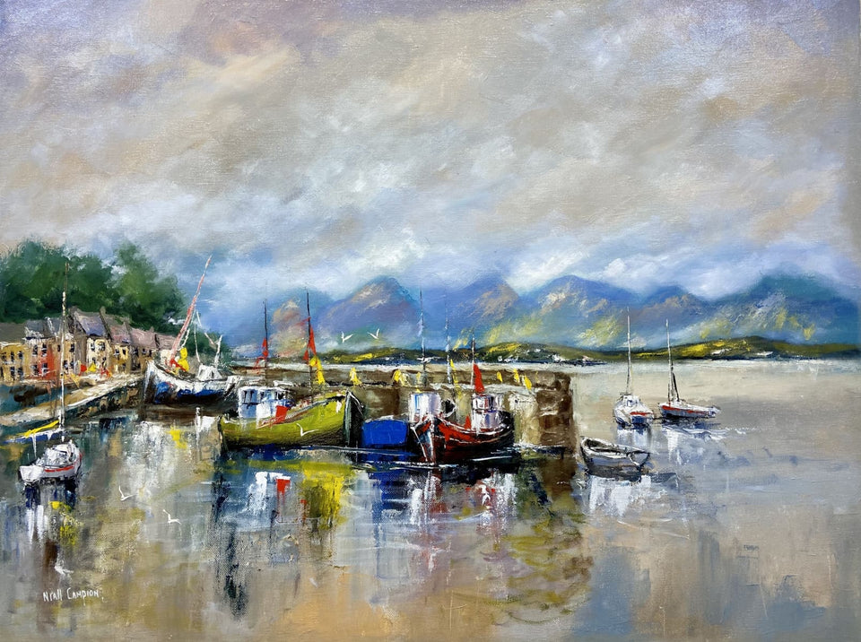 Roundstone Harbour Connemara Co. Galway Original Artwork
