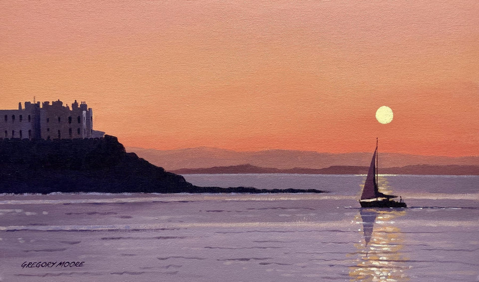 Sailing In The Portstewart Sunset Original Artwork