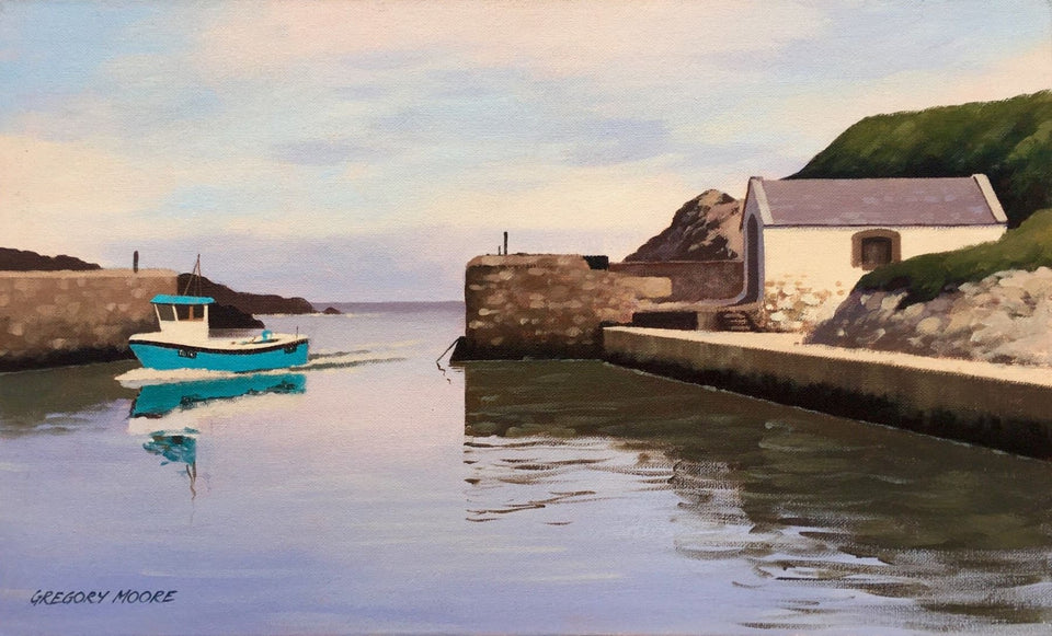 Sailing Into Ballintoy Harbour Original Artwork