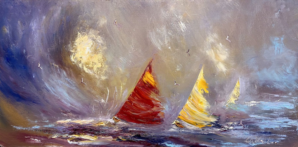 Sails On The Bay Original Artwork