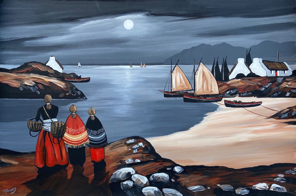 Sandy Cove Moonlight Original Artwork