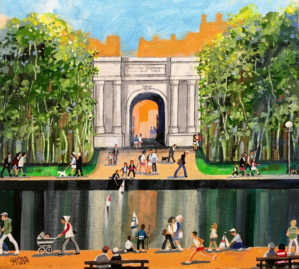 Saturday Afternoon St. Stephens Green Dublin Original Artwork
