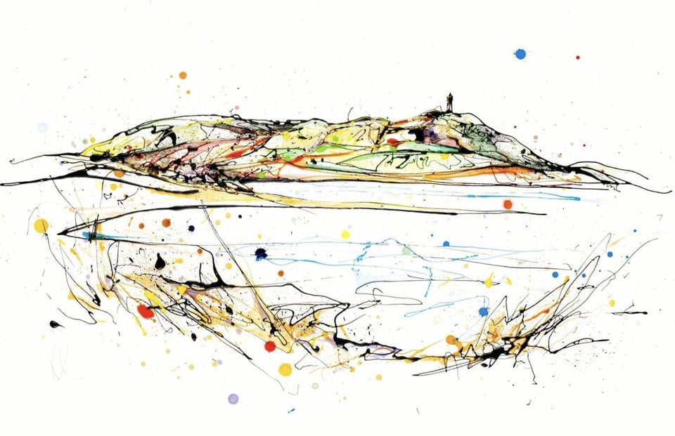 Scrabo Signed Print