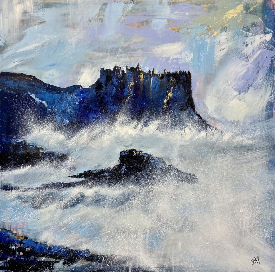 Sea & Surf Dunluce Castle Co.antrim. Original Artwork