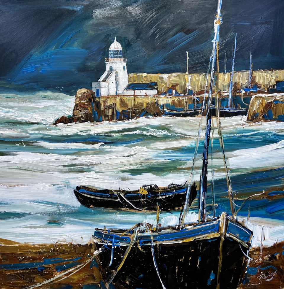 Sea Surge Balbriggan Harbour Co.dublin Original Artwork
