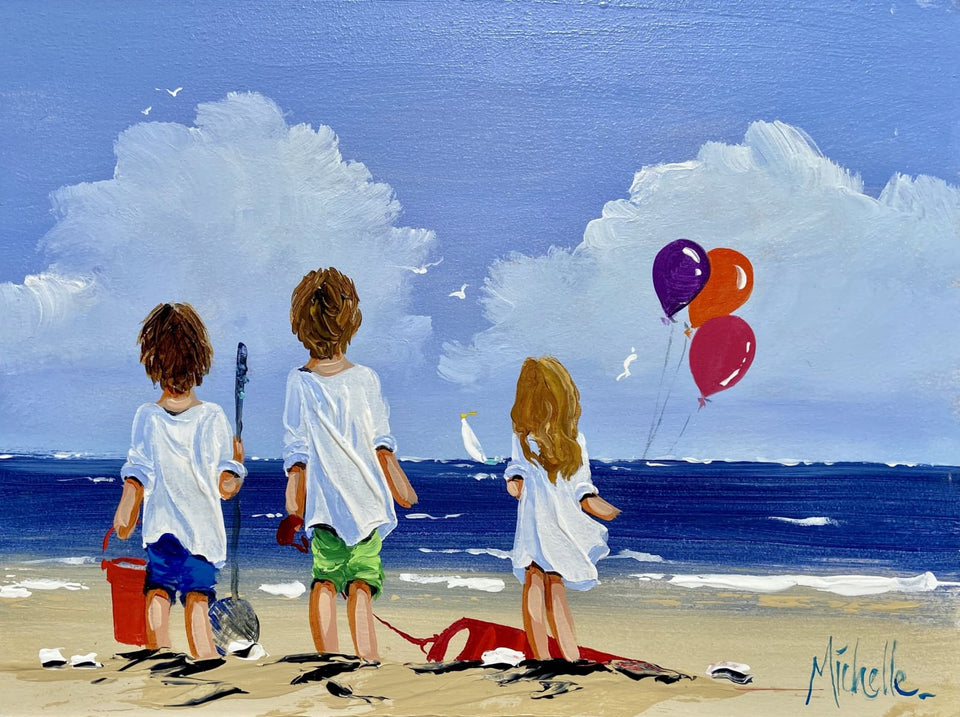 Seaside Fun Original Artwork