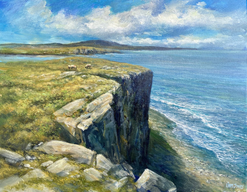 Sheep On Fairhead Ballycastle Co.antrim Original Artwork