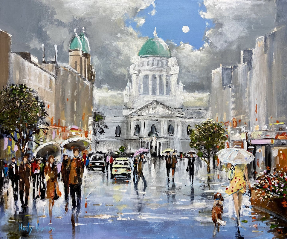 Showery Evening Donegall Place Belfast Original Artwork