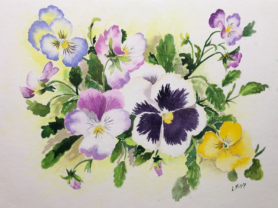 Still Life - Pansies Original Artwork