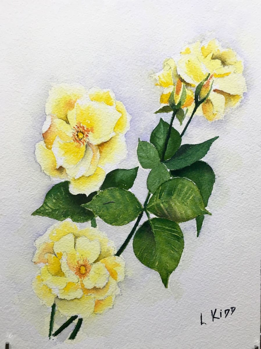 Stillife - Anniversary Gold Rose Original Artwork