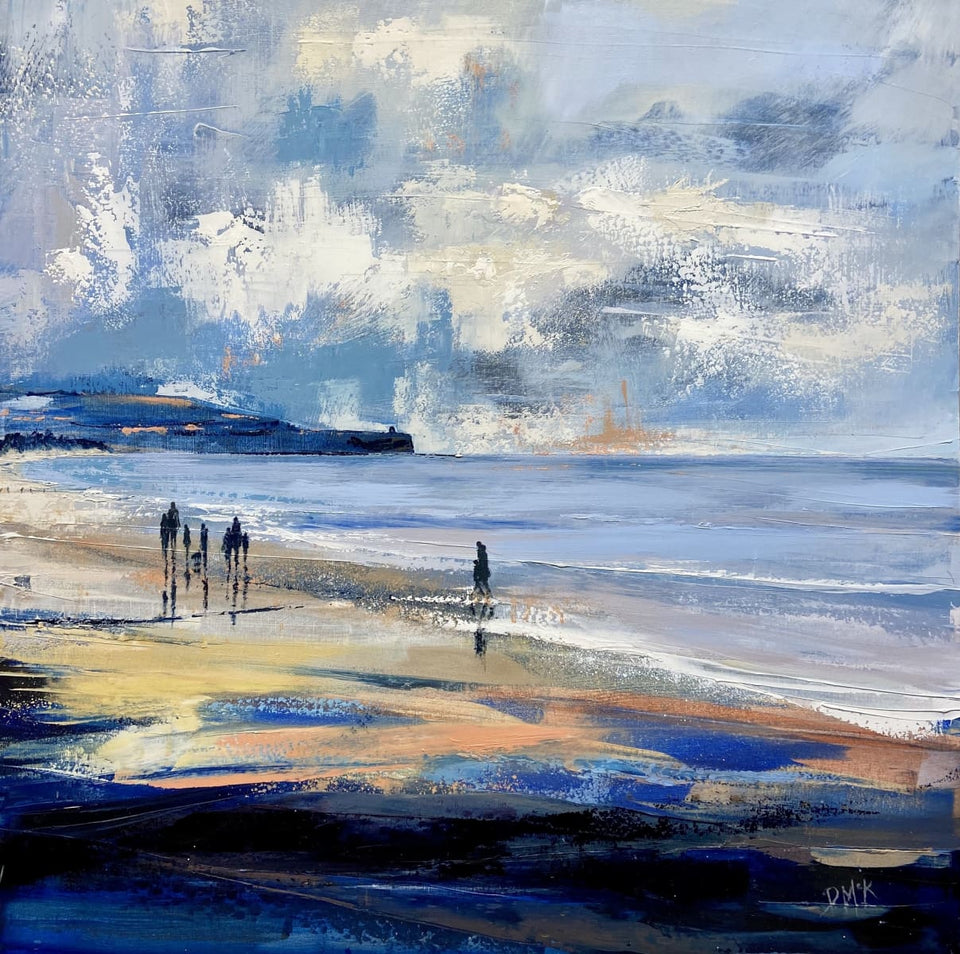 Stroll By The Waters Edge Portstewart Strand Original Artwork