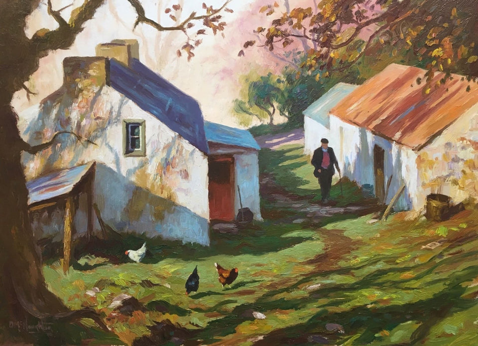 Stroll In The Farmyard Original Artwork