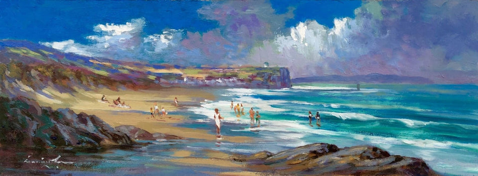 Summertime On Portstewart Strand Original Artwork