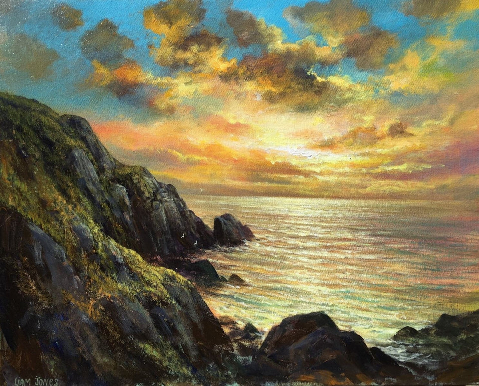 Sunset By Erris Head Co.mayo Original Artwork