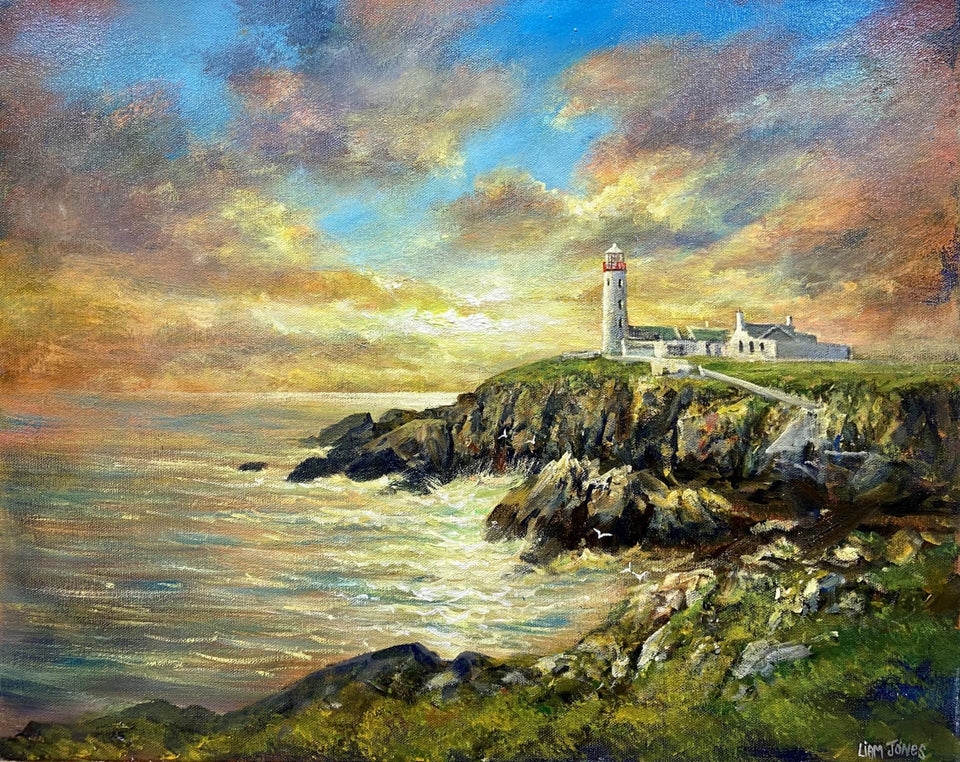 Sunset Fanad Lighthouse Co.donegal. Original Artwork