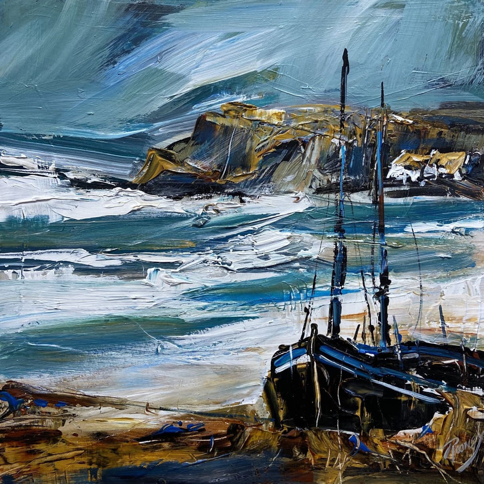 Surging Tide North Antrim Original Artwork