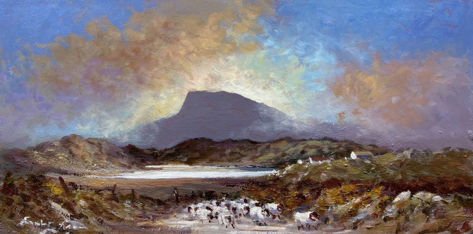 Tending Sheep Near Muckish Mountain Co.donegal. Original Artwork