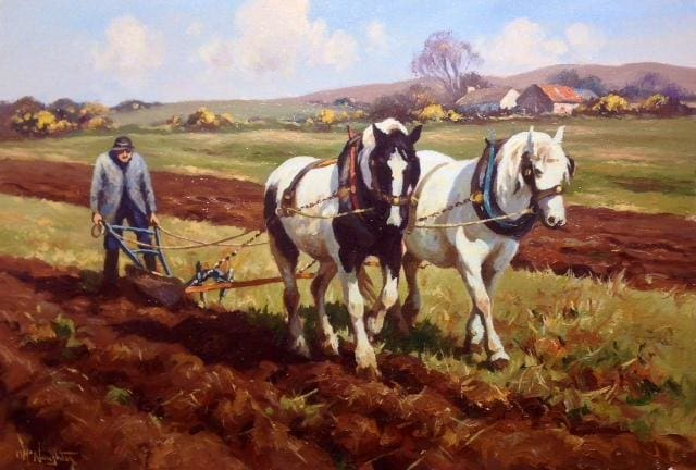 The Horse Ploughman by Donal McNaughton - Original Artwork