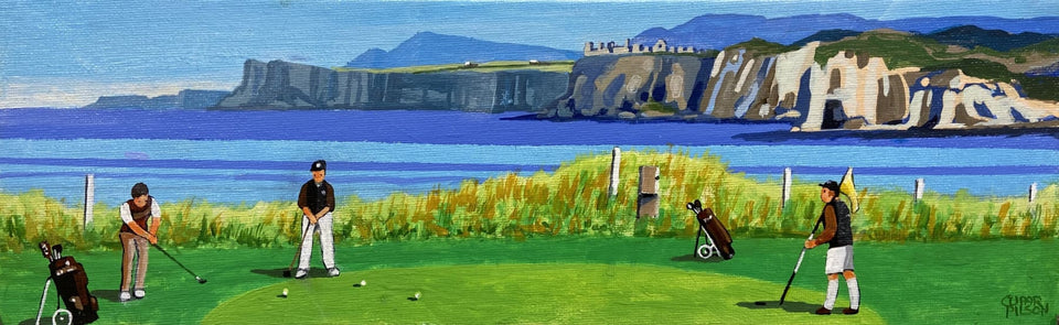 The Iconic Fifth Hole Royal Portrush Co.antrim Original Artwork