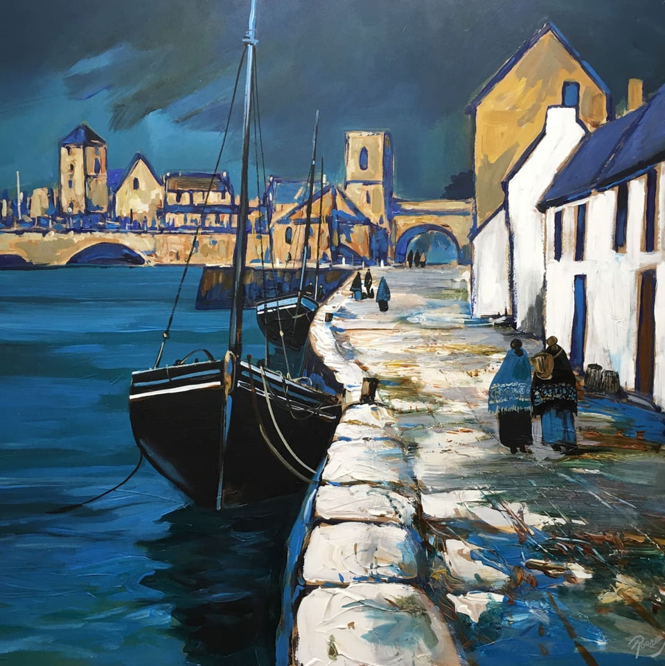 The Long Walk Spanish Arch Galway Original Artwork