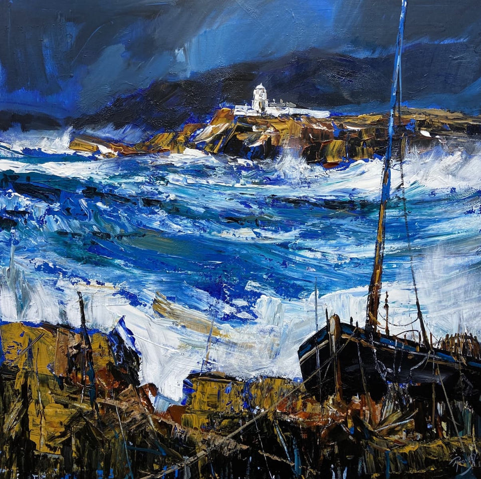 The Relentless Atlantic (At Valentia Island Co.kerry) Original Artwork