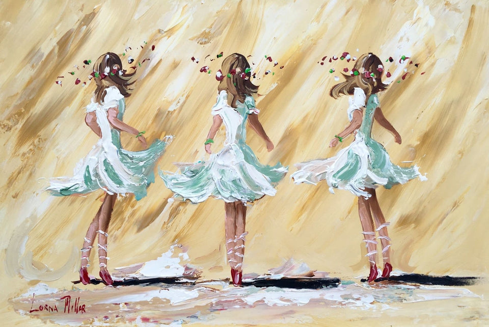 Three Ballerinas Original Artwork