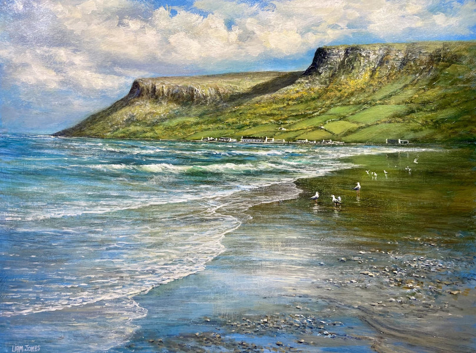 Tides Out Waterfoot Co.antrim Original Artwork