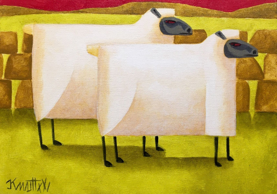Two Sheep Original Artwork