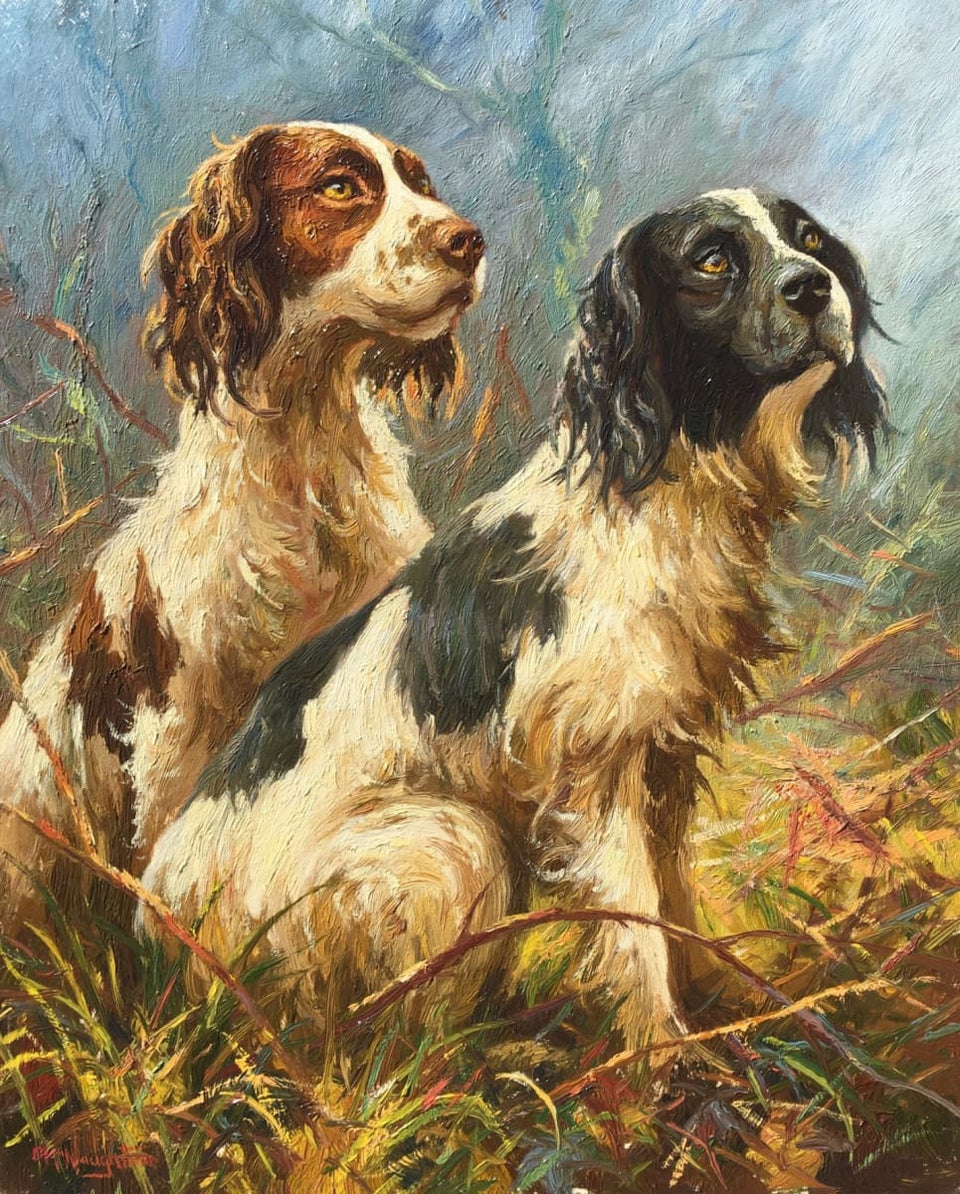 Two Spaniels Original Artwork