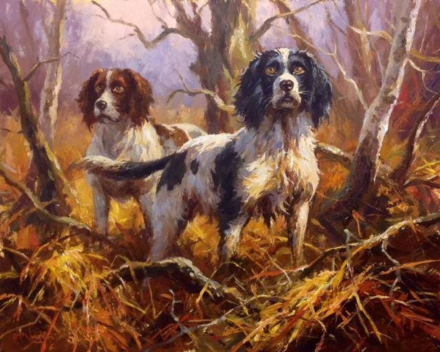 Two Springers by Donal McNaughton - Original Artwork