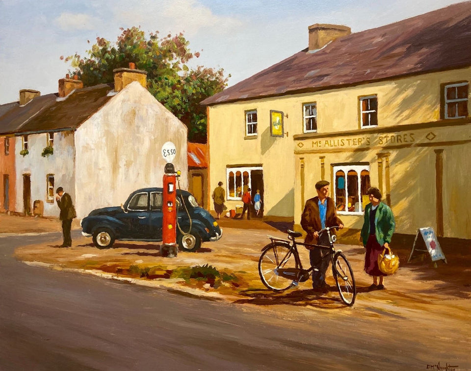 Village Life Waterfoot Co.antrim Original Artwork