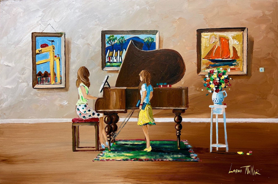 Voice Coaching By The Grand Piano Original Artwork