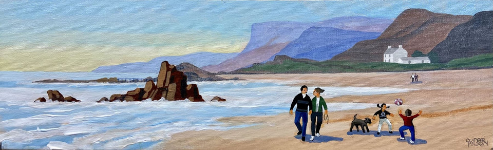 Walking Ballycastle Beach Co.antrim Original Artwork
