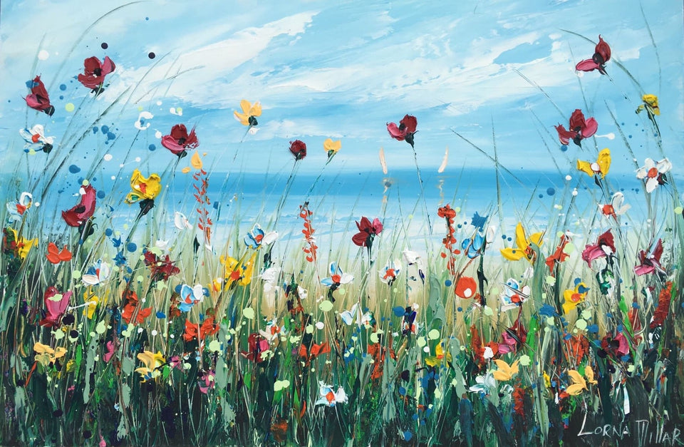 Wild Blossoms On The Dunes Original Artwork