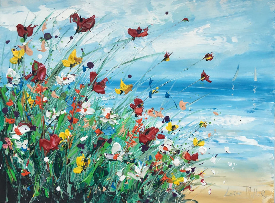 Wild Summer Flowers Original Artwork