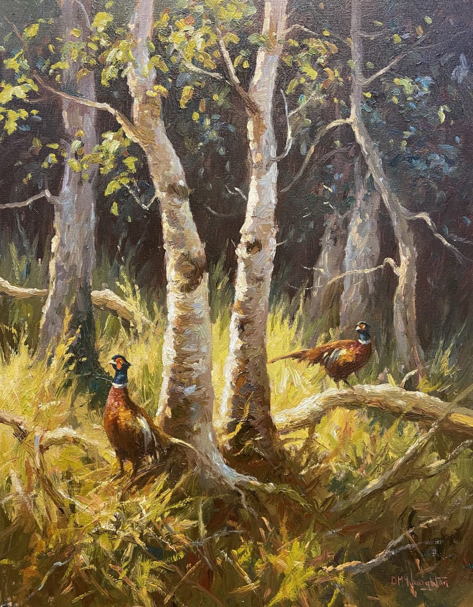Woodland Pheasants Original Artwork