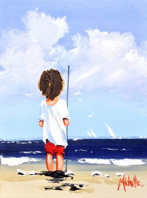 Young Fisherman Original Artwork
