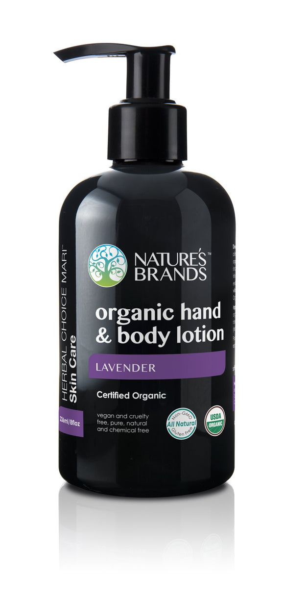 Organic Hand & Body Lotion, Lavender
