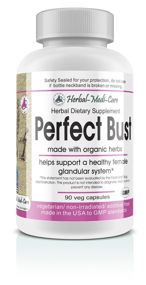 Whole Food Perfect Bust (Breast Health) Vegetarian Capsules; 90-Count, Made with Organic