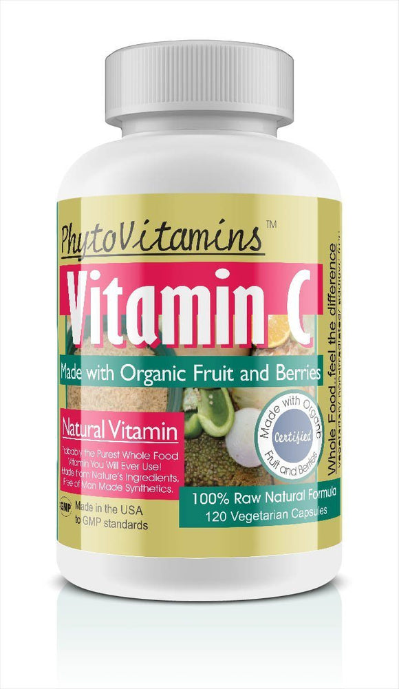 Whole Food Vitamin C Vegetarian Capsules; 120-Count, Made with Organic