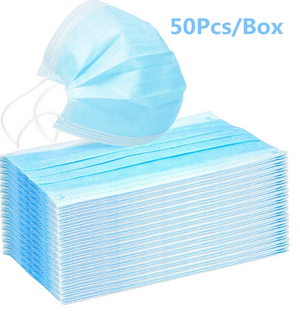 50 count box disposable face masks
