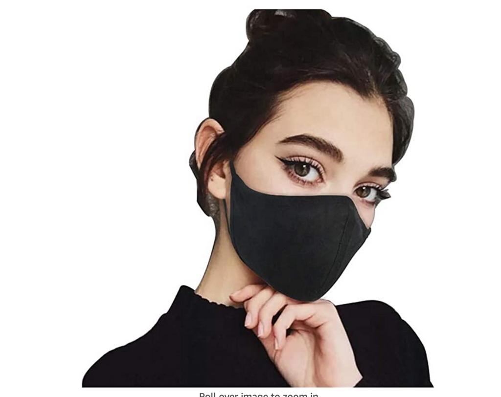 Reusable cotton cloth face mask