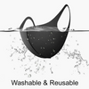 5 Reusable Washable Black Cloth Face Masks
