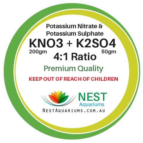 NEST - Potassium Nitrate mix with Potassium Sulphate - Dry Aquarium Fertilizers - 250g