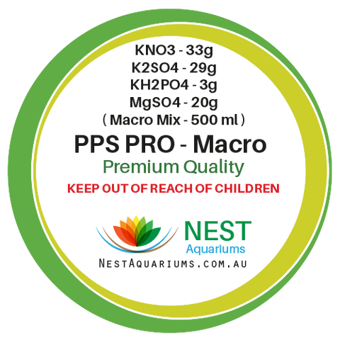 NEST - PPS-Pro Fertilizer Macro For 500ml - Dry Aquarium Fertilizers