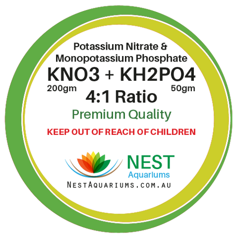 NEST - Potassium Nitrate Mix With Mono Potassium Phosphate - Dry Aquarium Fertilizers - 250g